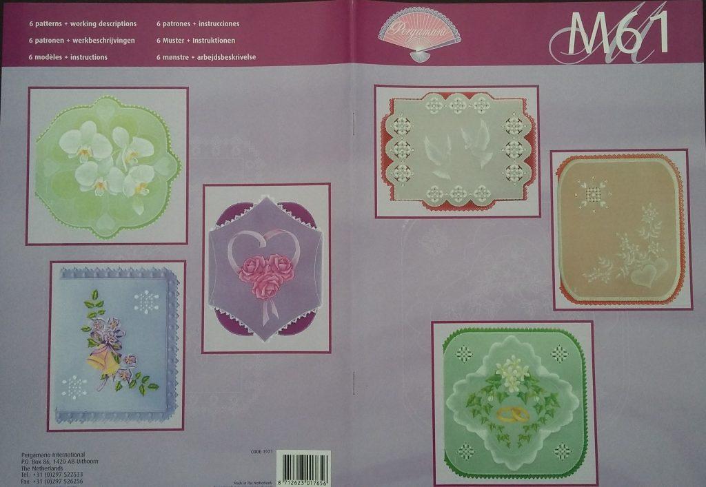 Parchment Craft Pergamano Pattern Book M68 Elegant Whiteworking New