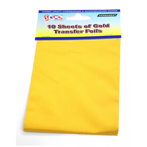 Stix2 Gold Coloured Transfer Foil Sheets S57111 - Card Making & Craft  Supplies