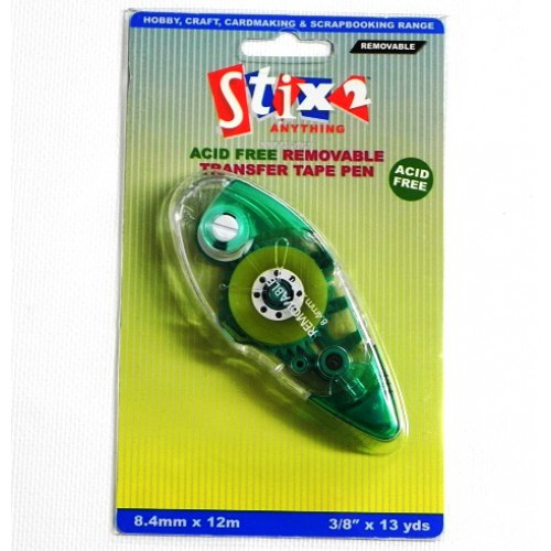 Stix2 Double Sided Removable Transfer Tape Pen **PACK OF 3**