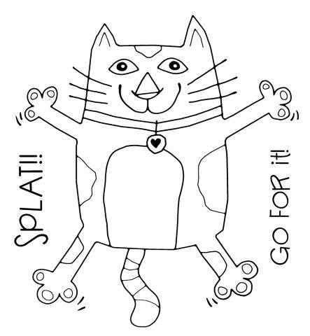 Woodware splat cat clear magic stamp frs051 card making craft woodware splat cat clear magic stamp frs051 card making craft supplies maxwellsz