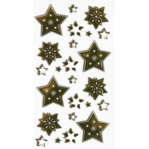 Artoz Silver And Gold Stars Craft Embellishment Stickers Card Making Scrapbook