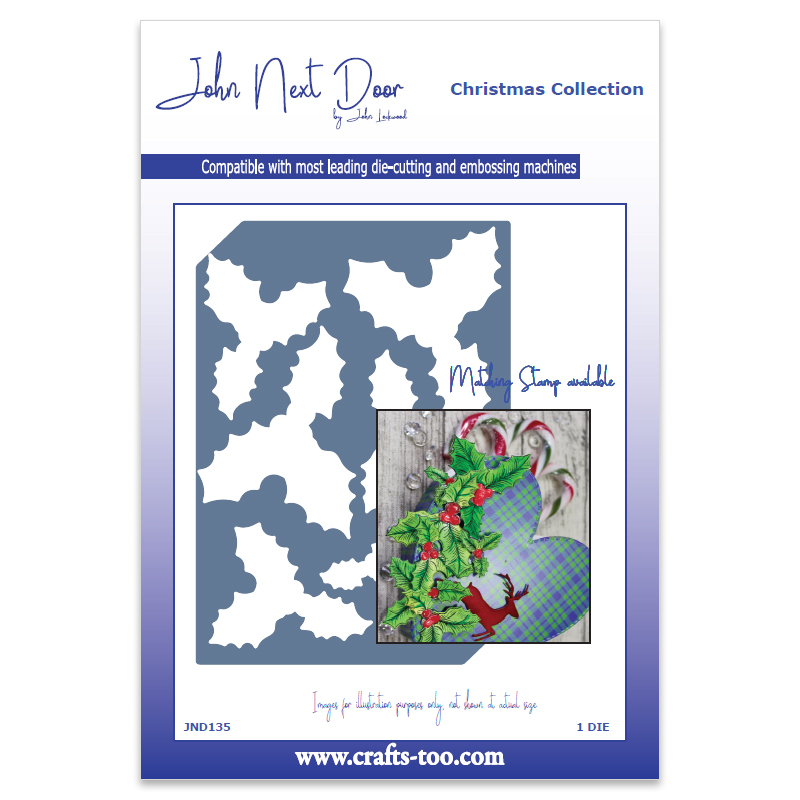 John Next Door Christmas Dies.John Next Door Christmas Dies Holly Die Plate Jnd135 Card Making Craft Supplies