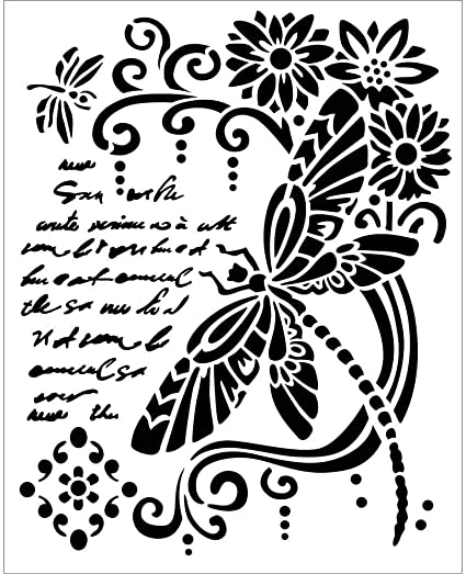 A5 Stencil Creative Expressions Delicate Butterflies by Lisa Horton CEST007