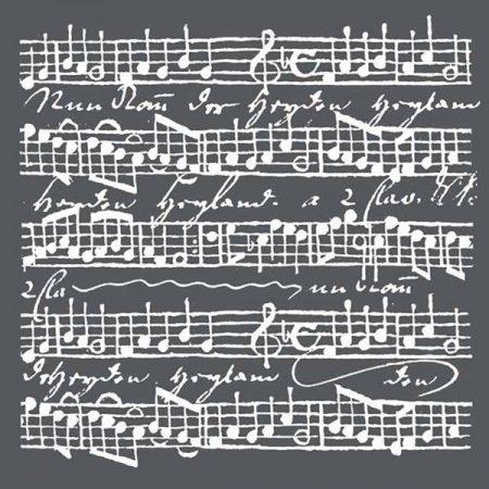 """Wallpaper Fantasy Vintage Music Script Stamperia Mixed Media Art Stencil  7/"""""""
