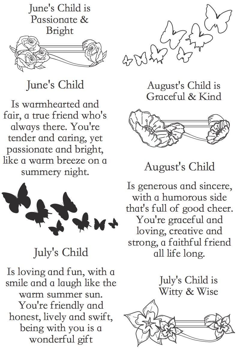 CREATIVE EXPRESSIONS A5 Clear Stamps Set Element SUMMERS CHILD CEC779