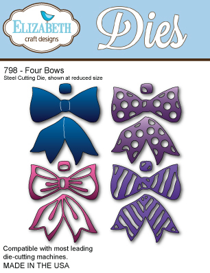 Elizabeth Craft Design Dies Four Bows Ecdd798 Card Making Craft