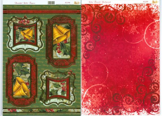Christmas Toppers For Card Making.Ac Beautiful Bells Toppers Ac198 Card Making Craft Supplies