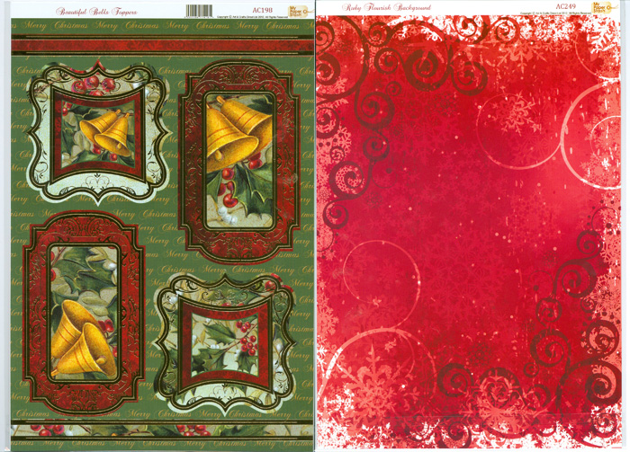 AC188 My Paper Stash Foiled Topper /& A4 Backing Card TANTALISING TREES