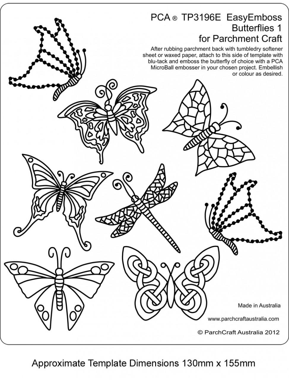 PCA Embossing Easy Emboss Butterflies 1 TP3196E - Card Making ...