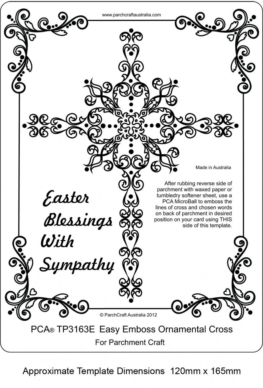 PCA Embossing Easy Emboss Ornamental Cross TP3163E - Card Making ...